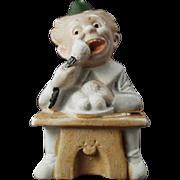 Vintage Match Holder - German Bisque, Comical Character