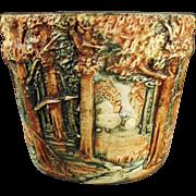 Vintage, Weller Art Pottery - Jardinière in Forest Line