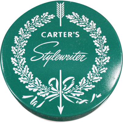 Vintage, Typewriter Ribbon Tin - Carter's Stylewriter