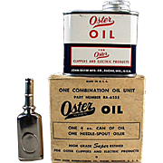 Vintage, Oster Oil Can - Oiler & Original Box