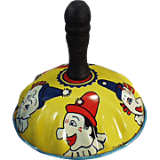 Vintage Toy Noise Maker with Clown Faces