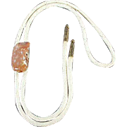 Vintage Bolo Tie with Polished Rock - 1950's/60's