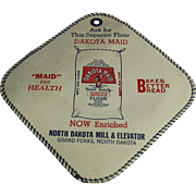 Old, Dakota Maid Flour, Advertising Potholder- North Dakota Mill and Elevator Co.