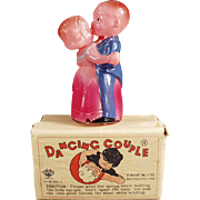 Vintage, Wind Up, O. J. Celluloid, Dancing Couple with Original Box