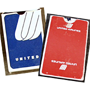 Vintage, Souvenir Playing Cards - 2 Decks with United Airlines Advertising