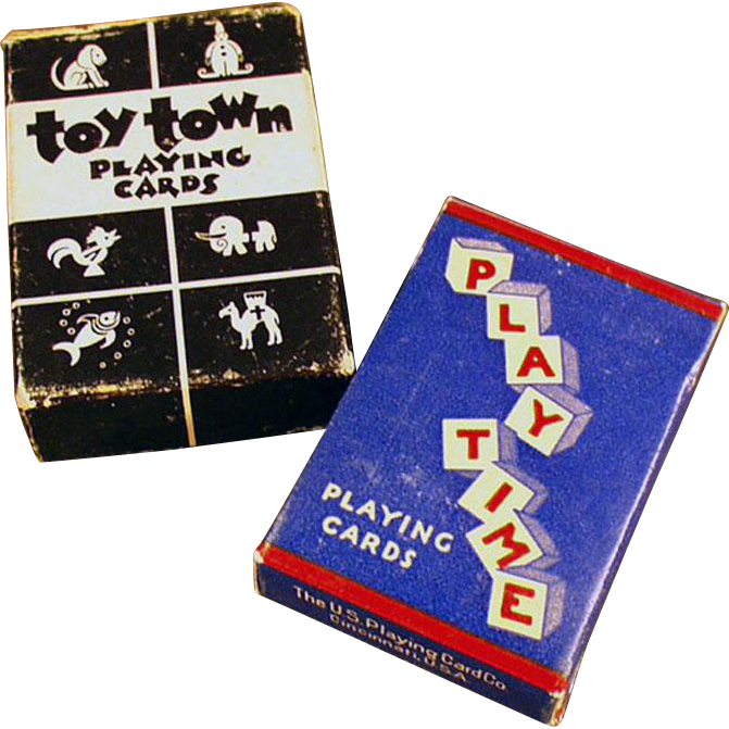 Vintage, Miniature Playing Cards - 2 Decks with Original Boxes