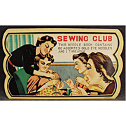 Old Needle Book - Sewing Club, Nice Graphics