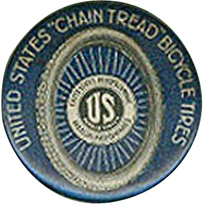 Vintage, Celluloid, Advertising Clicker - United States Rubber Bicycle Tire