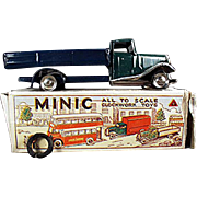 Vintage, Tri-Ang Minic, Wind Up Delivery Lorry with Box