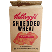 Old, Kellogg's Cereal Box - Shredded Wheat - ca 1940's