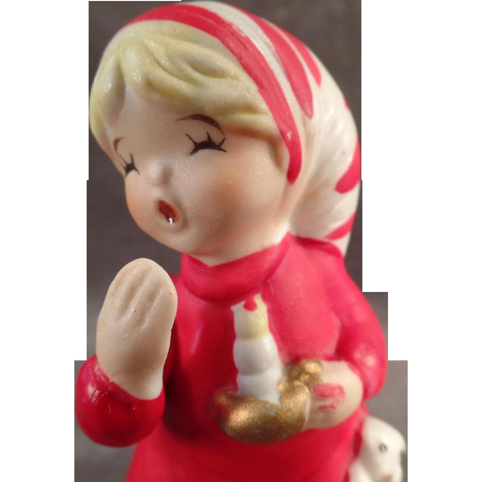 "Vintage, Christmas ""Bedtime"" Porcelain Bell with Original Hang Tag"