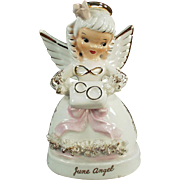 Vintage, Porcelain Angel - June with Wedding Rings