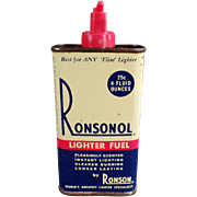 Vintage, Ronsonol Lighter Fuel Tin