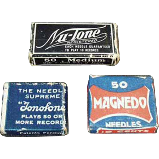 Vintage, Steel Phonograph Needles - Assorted Boxes