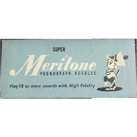Vintage, Steel Phonograph Needles - Meritone