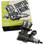 "Vintage ""Torpedo"" 40RC Front Rotor, Gas Powered Engine & Perry Carburetor"
