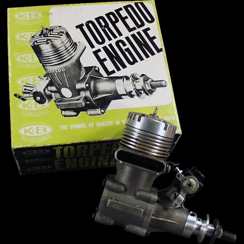 "Vintage ""Torpedo"" 40RC Front Rotor, Gas Powered Engine & Perry Carburetor"