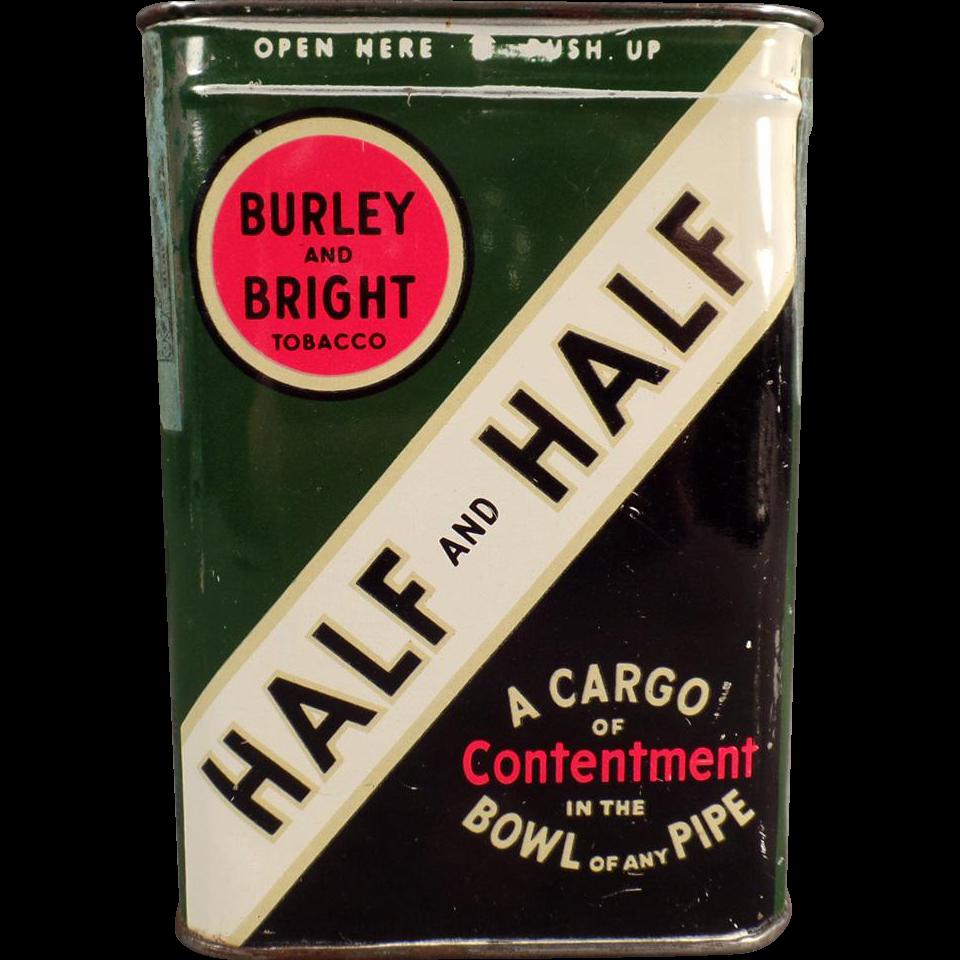 Vintage, Half and Half Tobacco Tin