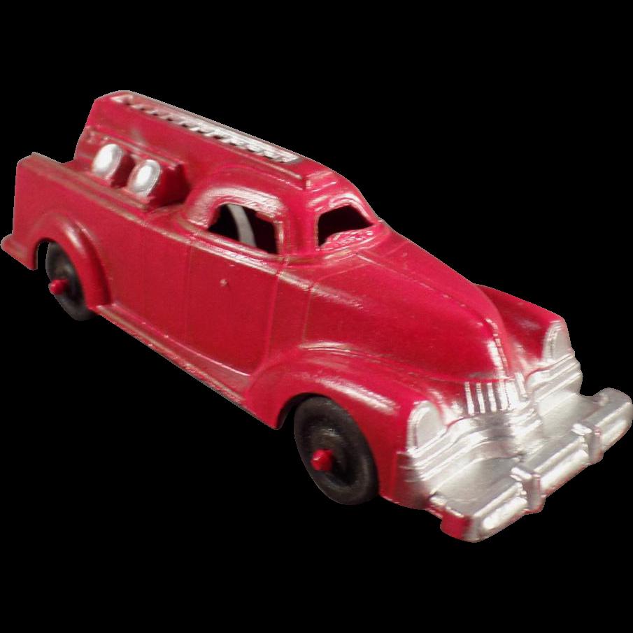 Old, Pre-War Die Cast, Toy Fire Engine - Manoil #709