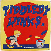 Vintage Tiddledy Winks Game with Original Box and Fun Graphics