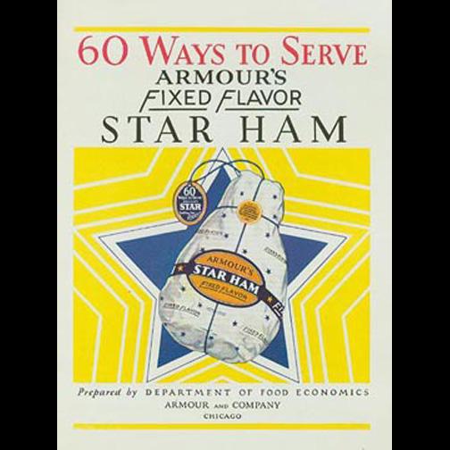 Vintage, Armour Ham Advertising, Recipe Book