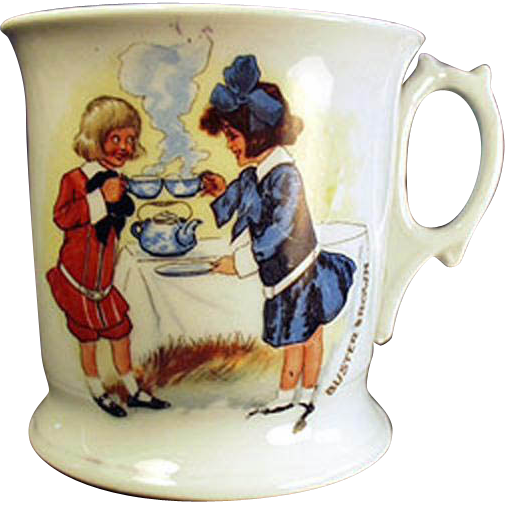 Vintage, Buster Brown and Mary Jane, Shaving Mug