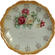 Kansas Mercantile - Vintage Advertising Plate with Floral Pattern