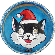 Vintage Dexterity Puzzle - Double-Sided, Santa Cat & Bald Man