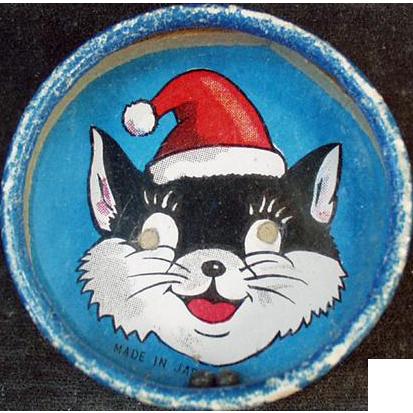 Vintage Dexterity Puzzle - Double-Sided, Santa Cat & Bald Man