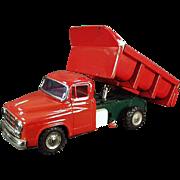 Vintage, Japanese Tin, Friction Dump Truck