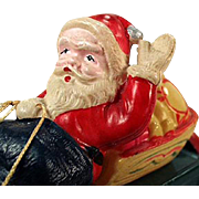 Vintage, Celluloid Santa Claus, Japanese Wind Up Toy