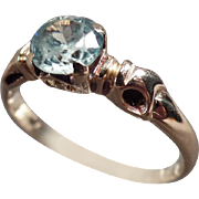 Vintage, 10k Gold Ladies Ring with Aquamarine