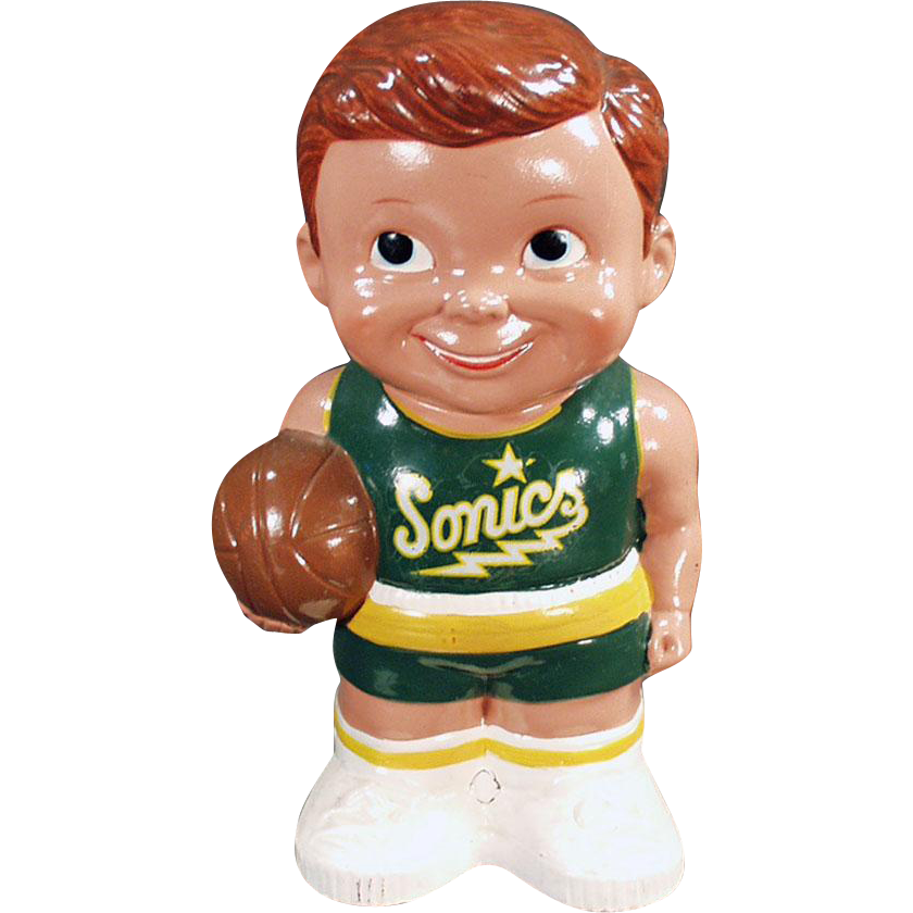 Vintage, Penny Bank - Seattle Sonics Basketball Player