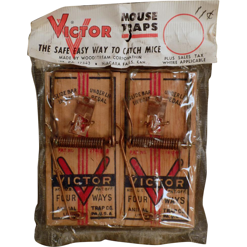 Old, Victor Mouse Trap - 2 Pack in Original Package