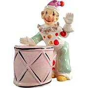 Vintage Planter with Clown Figure - Fun Piece for a Child's Room