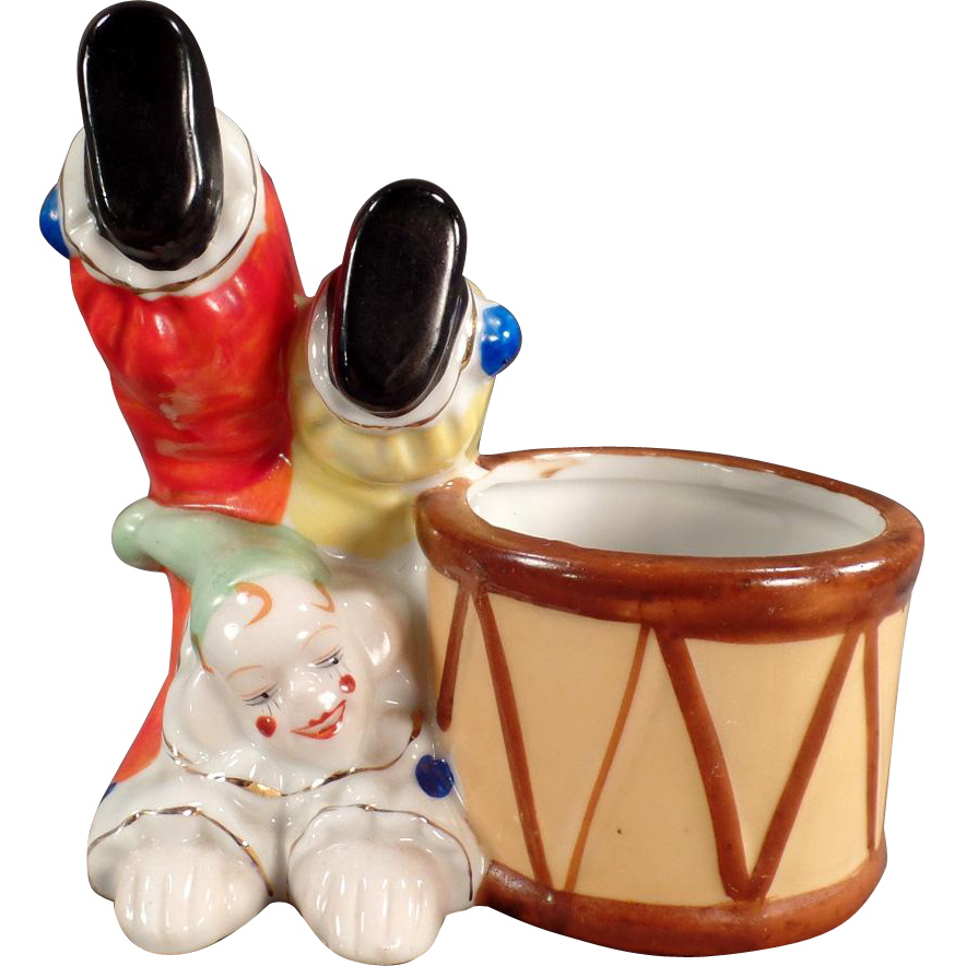 Vintage, Clown Planter - Nice Accent Piece for a Baby's Room