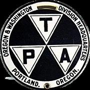 Vintage, Celluloid Luggage Tag from Portland, Oregon