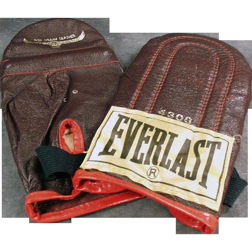 Shiv Naresh Teens Boxing Gloves 12oz: Vintage, Everlast #4308, Speed Bag Training Gloves From