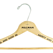 Vintage, Pullman Train, Wooden Clothes Hanger
