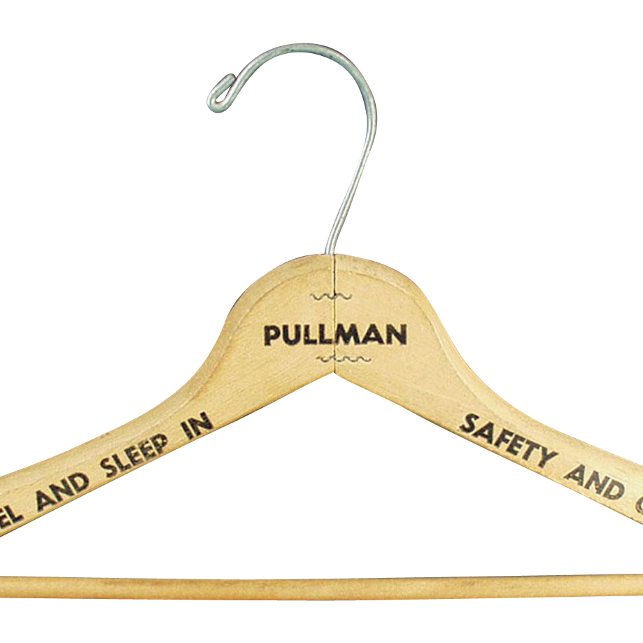 Vintage, Pullman Train, Wooden Clothes Hanger