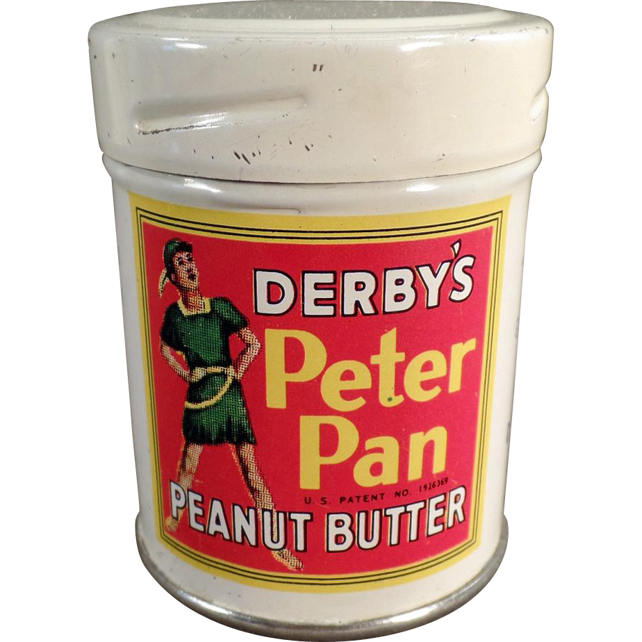 Vintage, Derby's Peter Pan Peanut Butter Tin - Sample Size