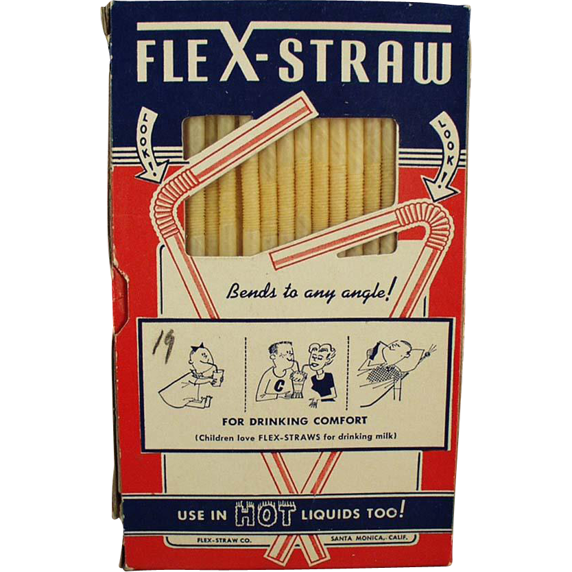 Vintage Flex-Straws in Original Box