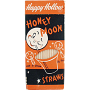Vintage Box of Paper Straws - Honeymoon 100
