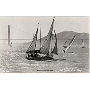 Vintage, Photograph Postcard - Sailing on San Francisco Bay