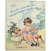 Old, Rheinische Gummi Celluloid Dolls, Booklet - Beautiful Graphics