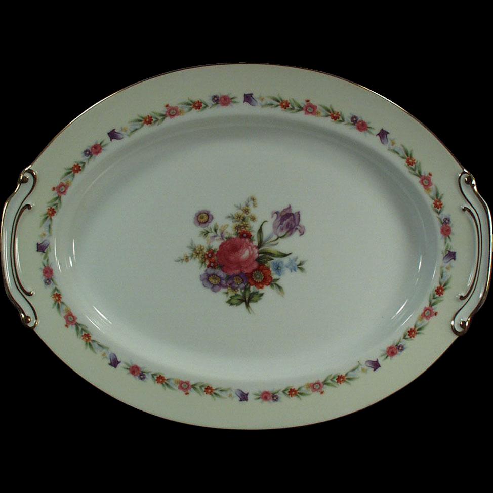 Vintage Serving Platter - Occupied Japan, Sango China, Large 16in. Platter