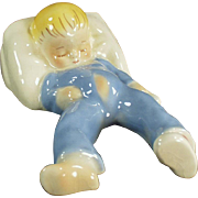 Vintage Pottery - Dadson Artware Toddler Figurine - Baby Sleeping