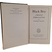 "Vintage Book ""Black Boy"" by Richard Wright - 1945, Hardbound"
