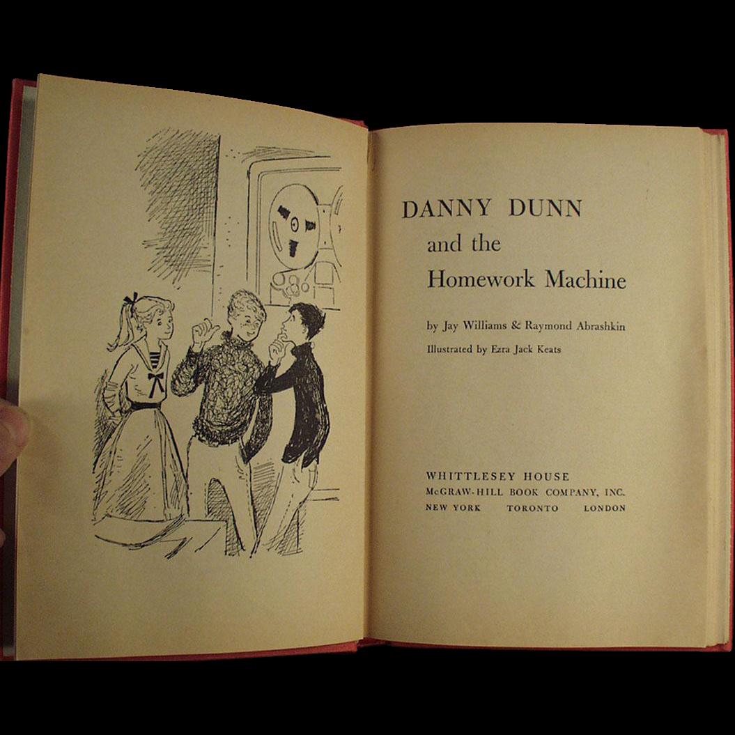 Vintage Book - Danny Dunn and the Homework Machine - 1959 Hardbound