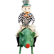 "The Ultimate St. Patrick's Day Candy Container ""Paddy and the Pig"" - Early 1900's, German"